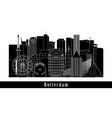 rotterdam cityscape building line art design vector image vector image