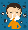 runny nose and viruses vector image