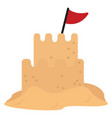 sandcastle on white background vector image vector image