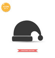santa hat icon simple flat style vector image vector image
