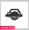 saw black icon vector image