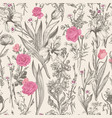 seamless floral graphic pattern vector image vector image
