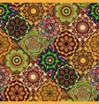 seamless repeating mandala background vector image