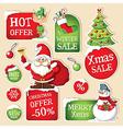 Set of Christmas price tags vector image