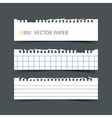 Set of notepaper horizontal web banners vector image