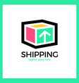 shipping box logo vector image