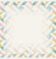 square frame in retro colors abstract geometric vector image vector image