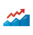 statistics with arrow up infographic degradient vector image vector image