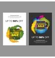 Summer sale leaflet design vector image vector image