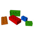 the playing blocks toy or color vector image vector image