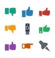 thumb icons vector image vector image