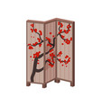 traditional japanese screen with image of vector image vector image