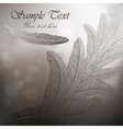 Vintage background with feathers on steel gray vector image vector image