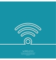 wireless and wifi icons vector image vector image