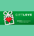 year papercut gift love web banner vector image