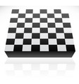 3d standard 8x8 chessboard vector image