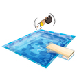 a boy and swimming pool vector image vector image