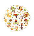 africa banner traditional african culture symbols