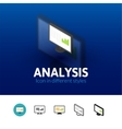 Analysis icon in different style vector image vector image