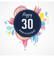anniversary - abstract background with icons vector image vector image