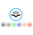 audiobook rounded icon vector image