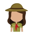 avatar girl wearing colorful clothes and hat vector image vector image