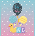 baby shower card with set accessories