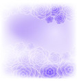 beautiful purple rose flower background vector image