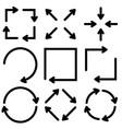 black flat arrows set vector image vector image