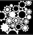 black gears mechanism background vector image vector image