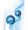 blue sparkling balls graphic vector image