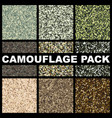 camouflage texture pack pattern template forest vector image