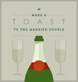 Champagne themed wedding card vector image vector image