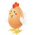 chicken egg handicraft vector image vector image