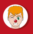 clown cartoon design vector image vector image