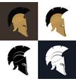 color and silhouette antiques helmet vector image vector image