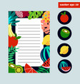 colored fruit page vector image vector image