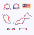 Colors of Malaysia vector image vector image