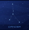 constellation cancer astrological sign vector image