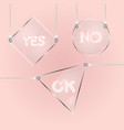 design glass tag element for short message vector image