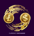 digital currency money exchange litecoin vector image vector image