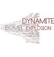 dynamite word cloud concept vector image vector image
