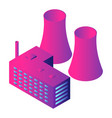 eco power plant icon isometric style vector image