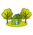 ecological green cartoon vector image