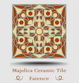 faience tile decorative ceramic tile in beige vector image vector image