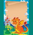 fairy tale theme parchment 3 vector image vector image