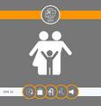 family icon symbol vector image vector image