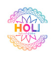 festival of colors holi celebration background vector image vector image