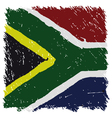 Flag of South Africa handmade square shape vector image