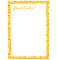 frame for congratulations easter with eggs vector image vector image
